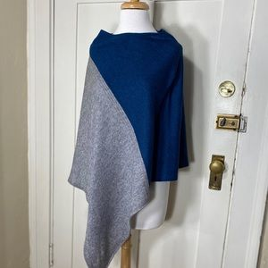 Celeste Colorblock Wool Cashmere Poncho